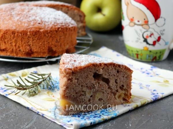 Шарлотка с яблоками и корицей — рецепт с фото пошагово