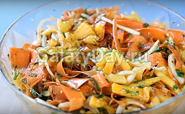 Салат из тыквы по-корейски