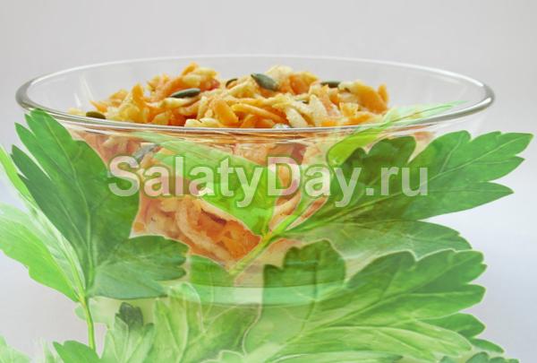 Салат из тыквы на скорую руку