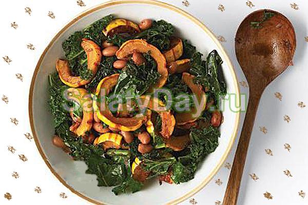 Салат из тыквы и капусты кале