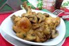 Курица жареная с грибами шампиньонами