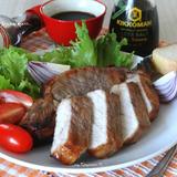Свиной стейк в горчично-соевом маринаде