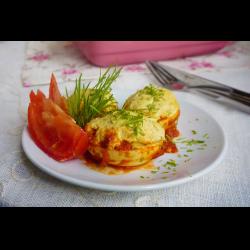 Фото Горячие фаршированные яйца