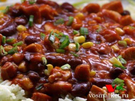 Фото готового блюда: Жареная красная фасоль
