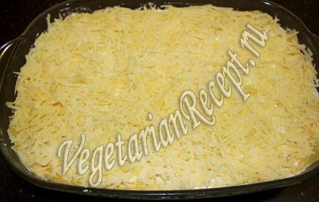 сырная лазанья - посыпаем сыром