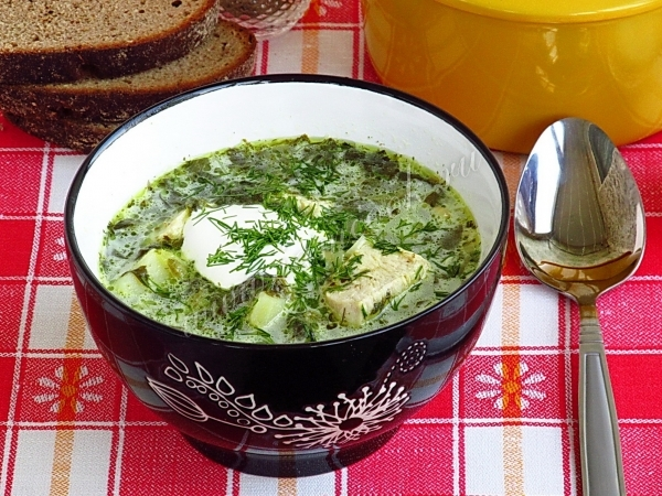 Рецепт супа из щавеля