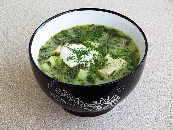 Щавелевый суп с плавленным сыром