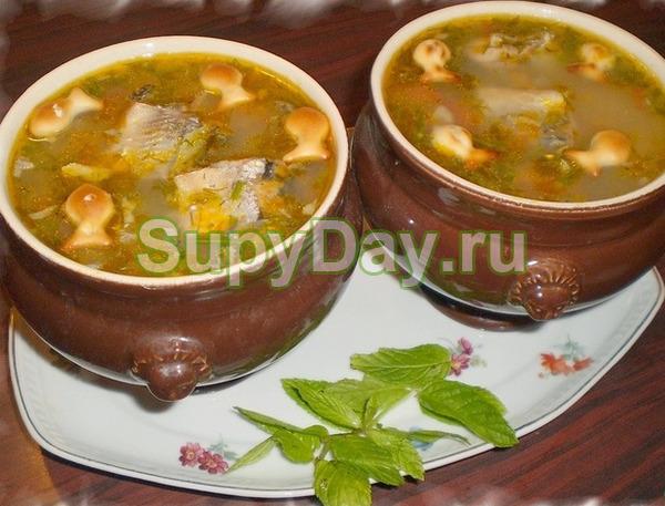 Суп с сайрой консервированной «Летний»