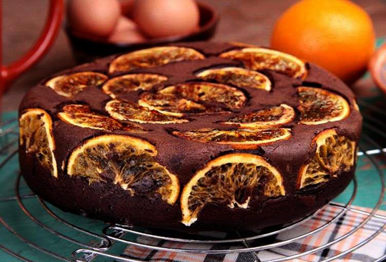шарлотка с шоколадом и апельсинами