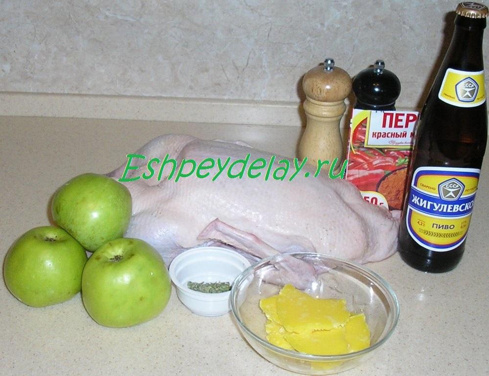 Рецепт жареной утки на сковороде