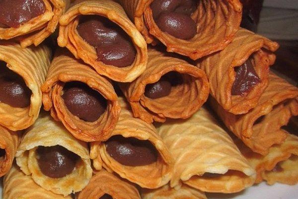 Шоколадный крем для вафельных трубочек