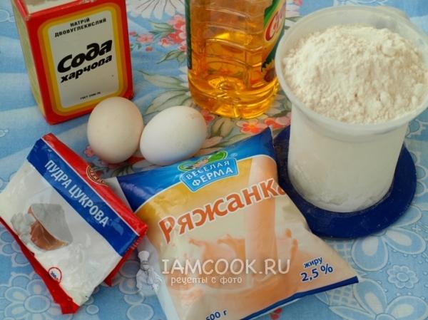 Ингредиенты для блинов на ряженке