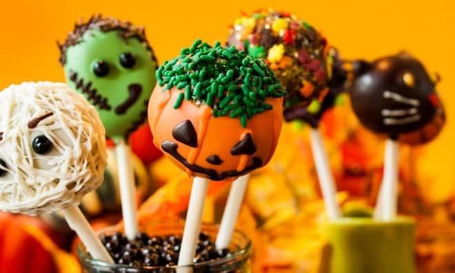 Как украсить кейк попсы на хэллоуин