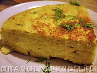 Вегетарианские рецепты с фото: постный картофельный омлет по-испански