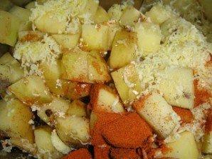 Картофель в духовке с пармезаном - фото шаг 2