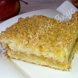 Яблочный пирог с нежным тестом и хрустящей корочкой