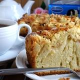 Пирог с яблоками и штрейзелем.