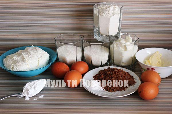 Ингредиенты для ватрушки